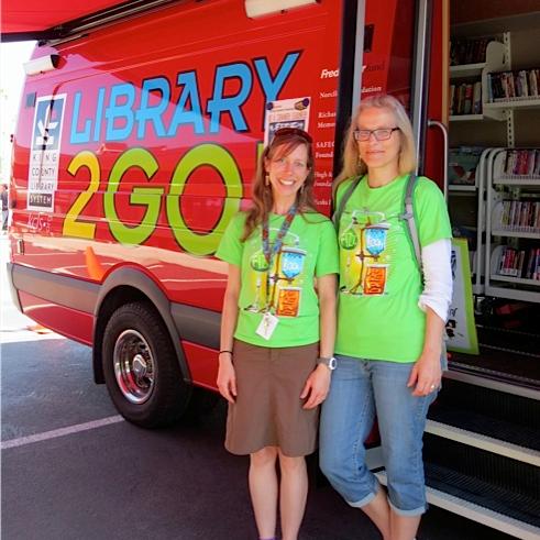 Kirsten & Jen at the Van